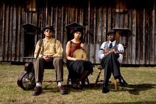 Mirissa Neff PBS reporter interviews the Carolina Chocolate Drops at #Petaluma's Mystic Theater