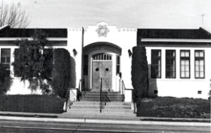 An old photo of B'nai Israel Jewish Center's current building