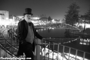 Christopher Linnell at Petaluma's Holiday Lighted Boat Parade