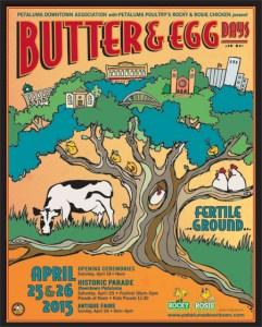Butter & Egg Days Parade Flyer 2015