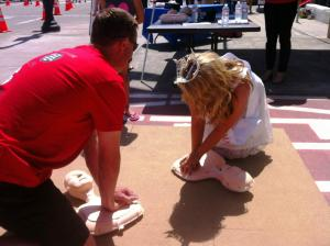 HeartSafe Teaching Hands On CPR At Petaluma Butter & Egg Days Parade