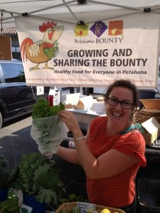 Bounty Farm Manager Lennie Larkin.  Photo courtesy of Petaluma Bounty