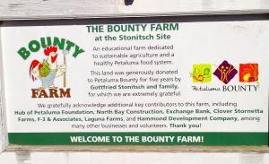 Petaluma Bounty Farm sign.  Photo by Christopher Fisher.