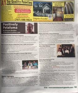 Positively Petaluma Breaks Into Print in Sonoma Gazette