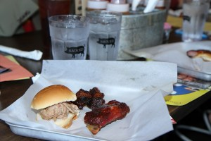 Sauced BBQ's Pulled Pork Slider & Ribs, Photo By Wayne Dunbar