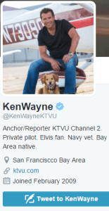 Tweet To Ken Wayne KTVU