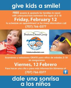 Petaluma Dental Group Giving Kids Smiles 2016