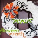 Tissue Paper Pom-Pom Halloween Wreath Tutorial