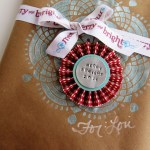 Stenciled Kraft Paper Wrapping