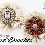 Vintage Lace Brooches