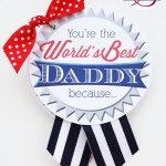 """World's Best Daddy"" Keepsake Book + Free Printables"