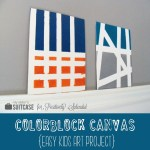 Colorblock Canvases (Kids' Art Project)