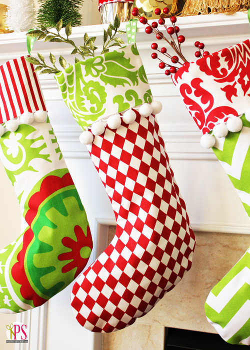 DIY Cuffed Christmas Stockings Pattern and Tutorial | Positively Splendid