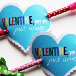 Pencil Arrow Valentines with Free Printable www.PositivelySplendid.com