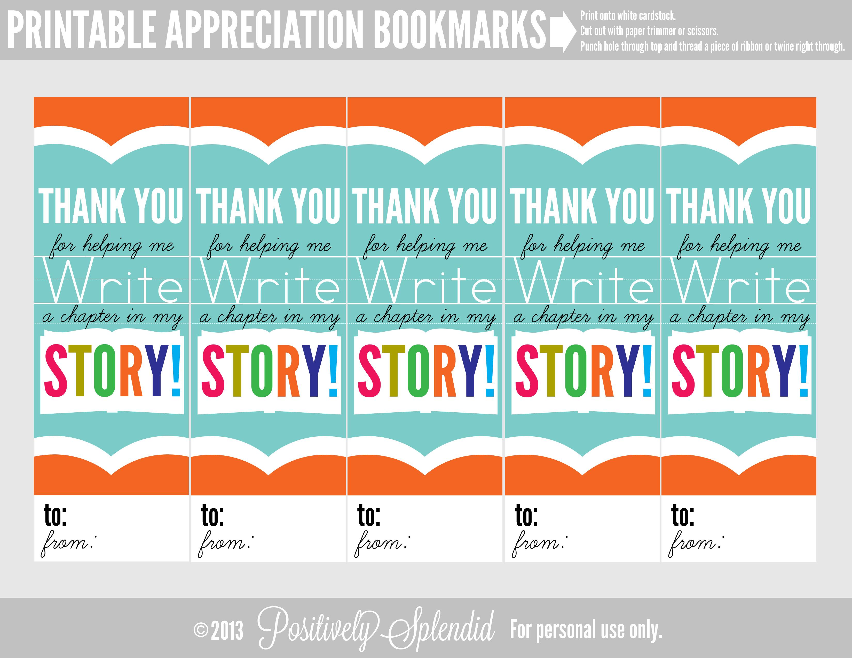 Appreciation Bookmarks