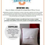 Creativity U: How to Sew a Simple Envelope-Back Pillow Cover