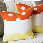 Color Block Candy Corn Pillow (PDF Tutorial)