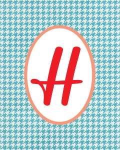 Blue Monogram H
