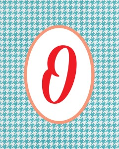 Blue Monogram O