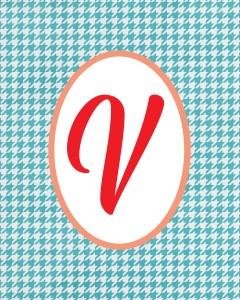 Blue Monogram V