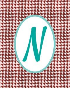Red Monogram N