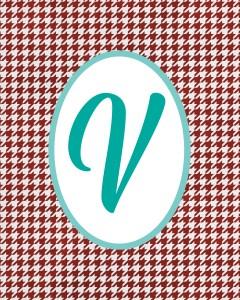 Red Monogram V