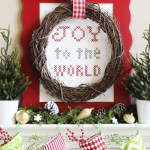 Large-Scale Joy to the World Cross-Stitch Sampler