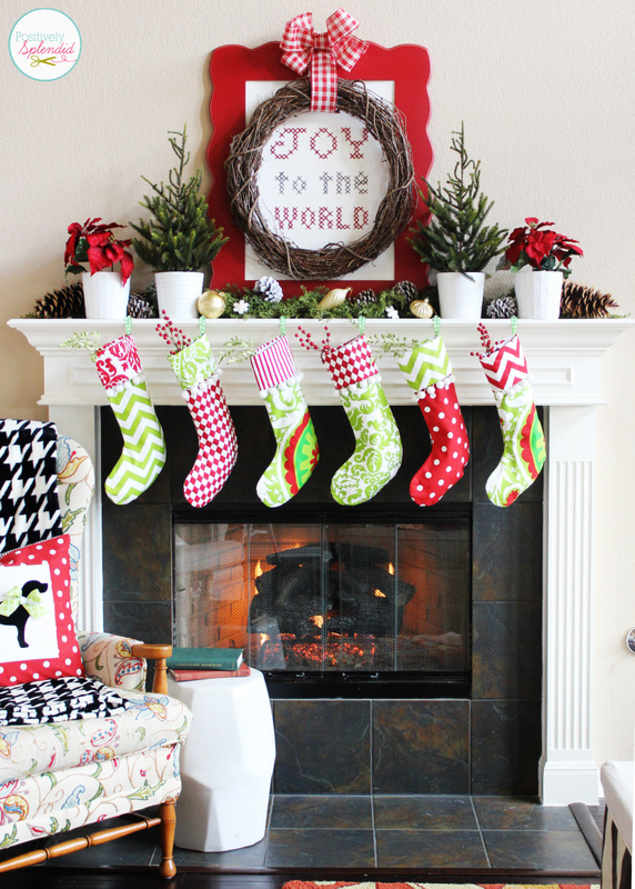 Traditional Christmas Mantel at Positively Splendid