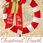A Christmas wreath that displays wording from a favorite Christmas carol. So creative and fun!