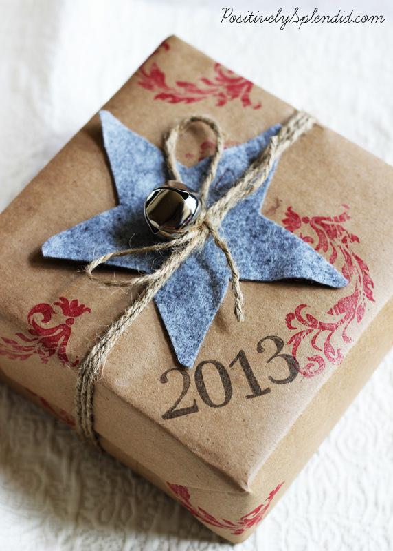 stamped kraft paper gift wrap-002