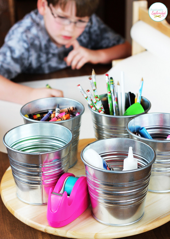Reduce homework stress by putting together a homework command station to keep essential supplies and tool's at arm's reach!