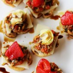 Swiss Cheese and Red Pepper Tapenade Bruschetta Bites #lifeingredients
