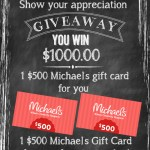 Win a $500 Michaels gift card for yourself AND one for your favorite teacher! #teacherappreciation