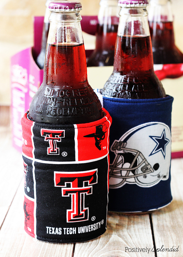 These DIY koozies would be the perfect gift for any guy!