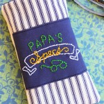 Embroidered Men's Eyeglass Case Sewing Tutorial