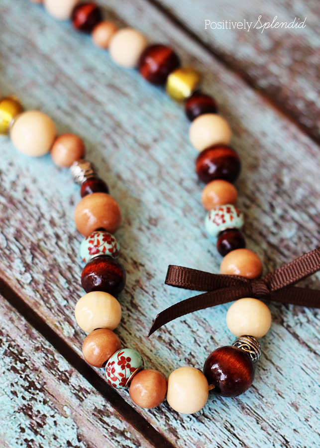 Wood bead necklace by Positively Splendid