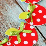 Easy No-Sew Fabric Apple Garland