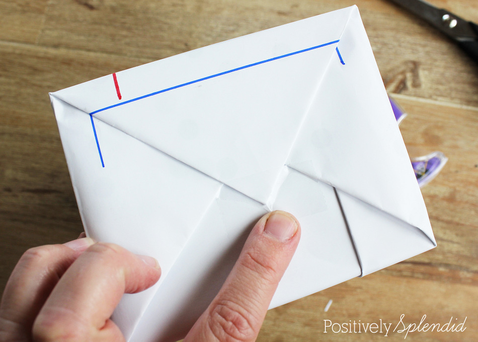 Notebook Paper Gift Wrap #MakeAmazing