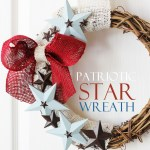 Patriotic Burlap and Star Wreath (DIY July 4th Wreath)