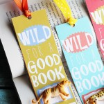 Wild for a Good Book Printable Bookmarks