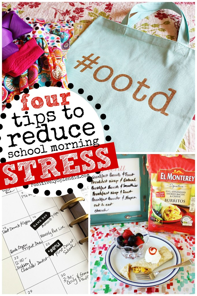 4 Tips to Reduce School Morning Stress - Smart ideas from Positively Splendid! #momwins