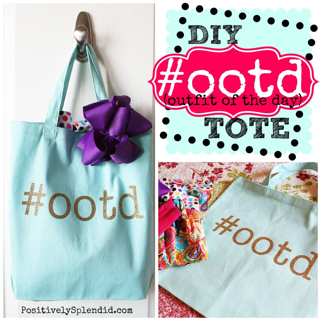 Outfit of the Day Tote Idea from Positively Splendid