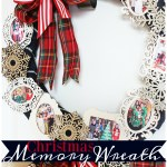 Christmas Memory Photo Wreath #PlaidCreators