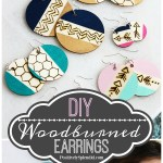 DIY Wood Burned Earrings