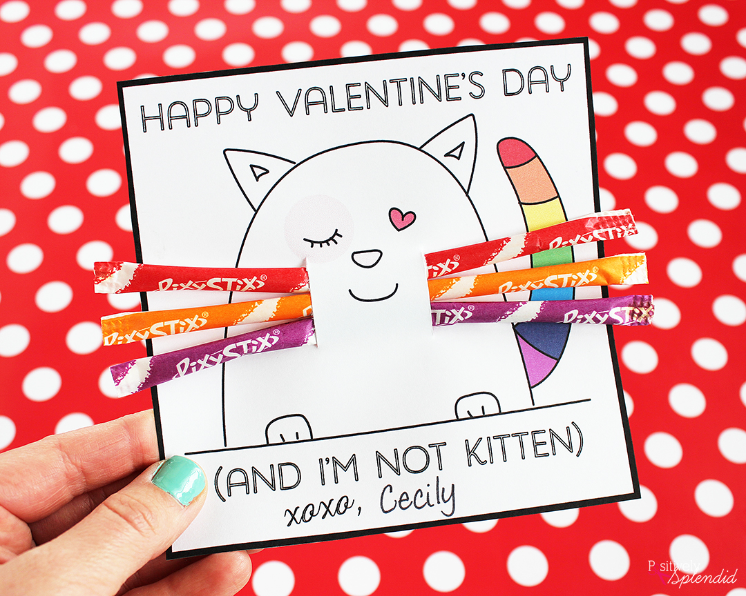 Printable Kitten Valentines