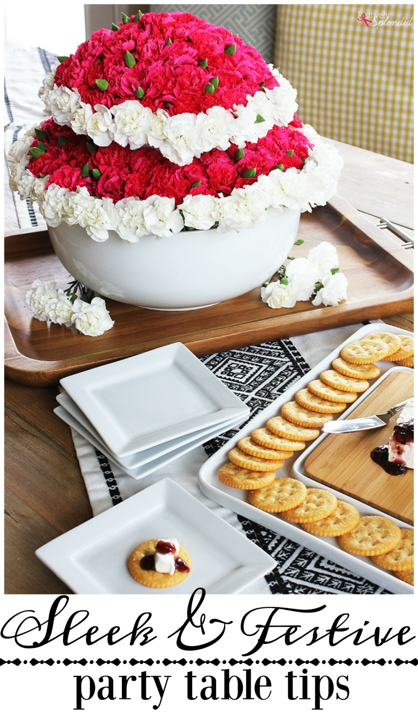 Sleek and Festive Party Table Tips - Great ideas from Positively Splendid! #bhglivebetter