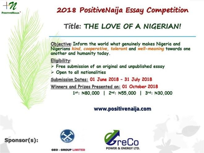 essay competition on the love of a nigerian