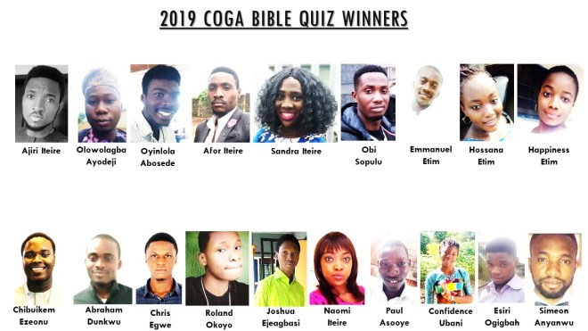 winners of 2019 COGA Bible Quiz
