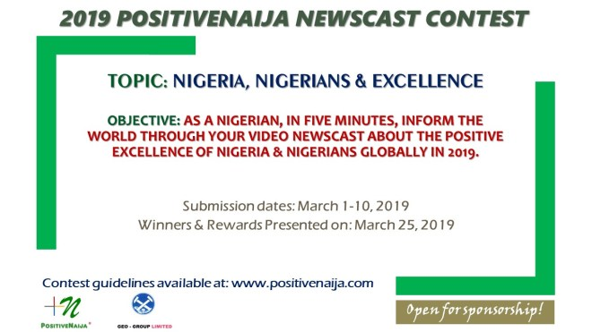 2019 newscast contest on nigeria, nigerians and excellence