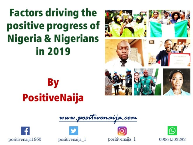 Factors driving Nigeria's progress 2019